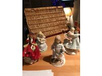 4 Porcelain Figurines for sale individually or as group