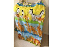 "Safari nursery/children's curtains 54"" x 66"""