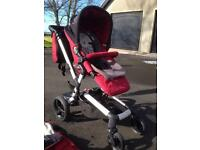 Jane Rider Pram, buggy board and accessories.