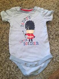 Sainsbury's daddy's little soldier vest 12-18 months