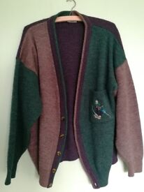 Vintage French Oversized Cardigan