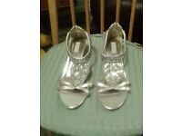 Two pairs of lovely ladies evening shoes - ideal for Christmas parties!