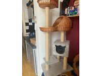 Almost new cat tree quality large