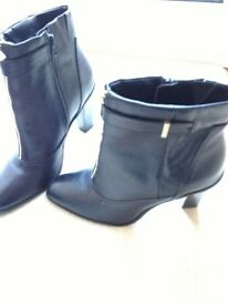 Ladies M&S Autograph Black Leather Ankle Boots