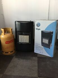 Blyss 4200W Gas Heater and 13KG Gas Bottle Complete Package - Portable Mobile