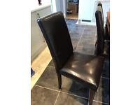 Dinning room table and 6 high back chairs