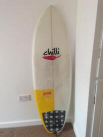 Chilli Cherry Peppa Surfboard - 5'8 x 20 1/2 x 2 5/16
