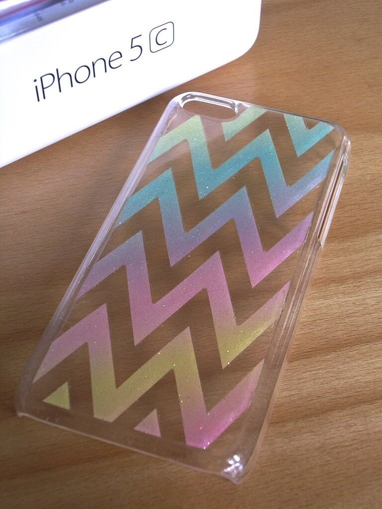 APPLE iPHONE 5C OMBRÉ ZIG ZAG PHONE CASE – EXCELLENT LIGHTLY USED COND