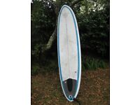 "Circle One mini mal 7'6"" surfboard"