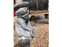Stone Jug Boy Water Feature/Statue