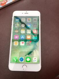 iPhone 6 plus 16gb in silver and white