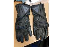 Dainese leather armoured gloves large