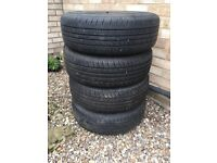 """Set of Ford Focus 14"""" steel wheels with tyres"""
