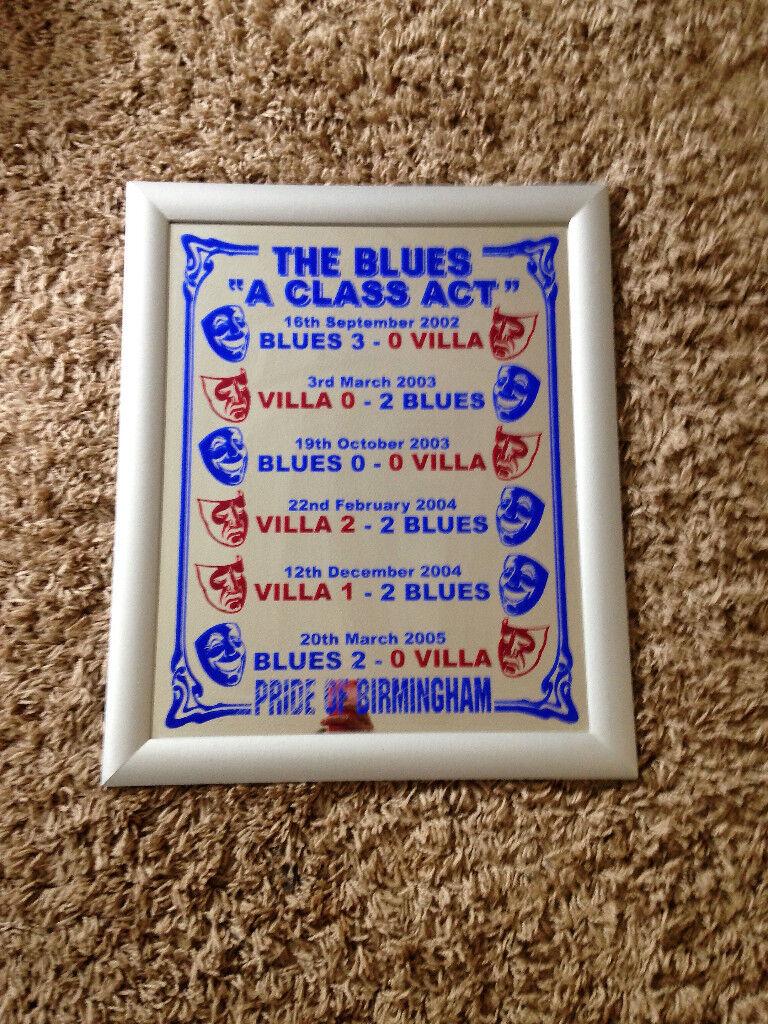 Birmingham City Football Club framed mirror 23 inch x 19 inch