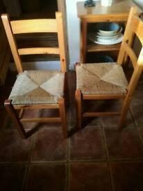 Pine dining Habitat chairs