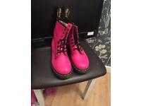 Pink doc martens size 7