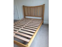 Pine double bed beech solid wood