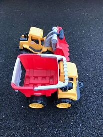 Kids Little Tikes Digger and Truck