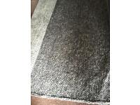 Grey thick knit claudine wool rug 230x160