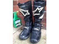MOTOCROSS BOOTS by AlpineStars size 8