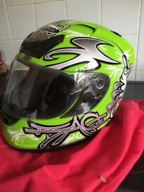 Motorbike helmet new never warn