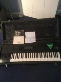 Korg 01 wfd synthesiser keyboard. Hermans hermits With flightcase classic synth bon jovi