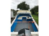 Seahog hunter 15ft boat with 40hp mariner outboard