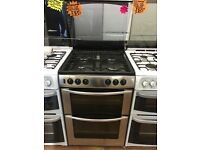 BELLING 60CM ALL GAS COOKER IN SHINY SILIVER