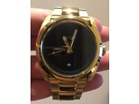 Nixon (Mens) Watch, The Kingpin Diamond Gold Watch. Used.