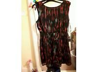Brand new rainbow dress boohoo size 10