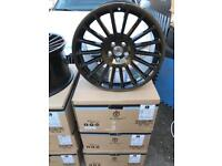 "4 18"" Stuttgart alloy wheels alloys rims tyre tyres 100 112 Vw Volkswagen seat Skoda audi"