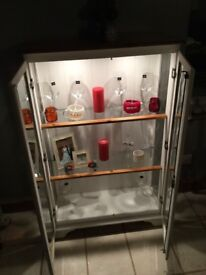 Glass lighted cabinet