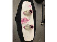 Liquid Force Wakeboard, bag, Ronix Bindings - used once