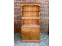Solid chunky pine Welsh Dresser. Spice Drawers. Dovetail Joints