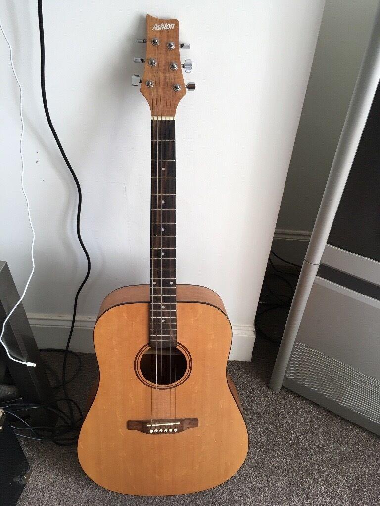 Ashton electro acoustic guitar