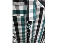 C Topman green check shirt L