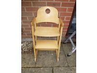 Kids Baby High chair - wooden, Stoke style - need some attention