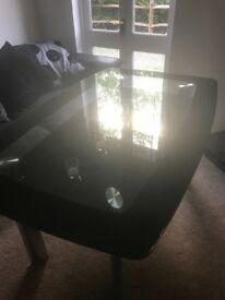 6 seats glass dining table no chairs