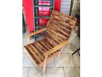 Retro funky wood arm chair