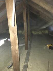 Plastering - attic boarding
