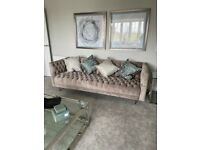 2 x 3 Seater Sofas out of a Showhome