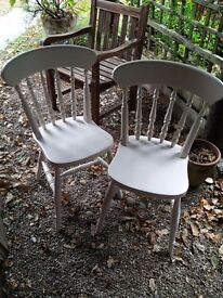 4 Quality Heavy and Solid Beech Country Kitchen Chairs