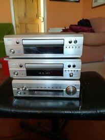Denon Hifi. Tuner, tape player and CD