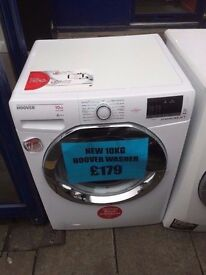 HOOVER 10KG WASHING MACHINE NEW/GRADED