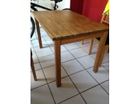 Ikea dining table (4 chairs), solid wood