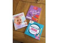 Set of three baby weaning books.