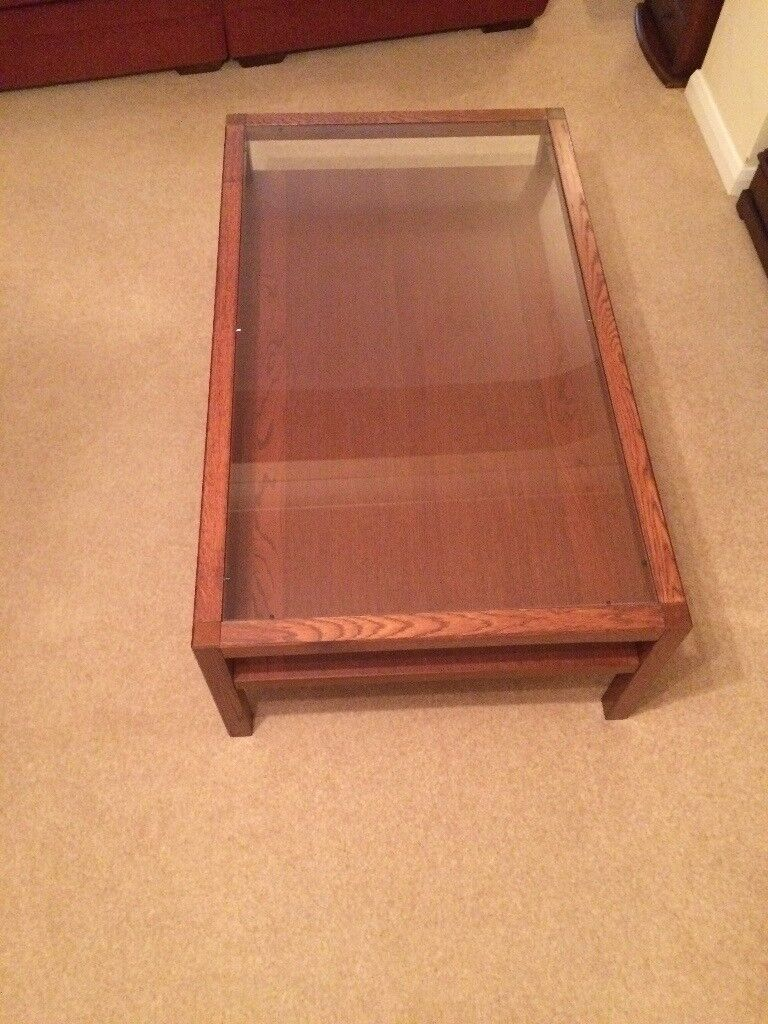 Large glass top coffe table