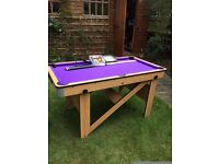 Large pool table used once