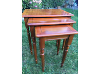 3x Yew nesting tables
