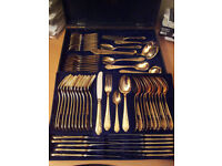 Golden plated Solingen Cutlery 72 pices for sale